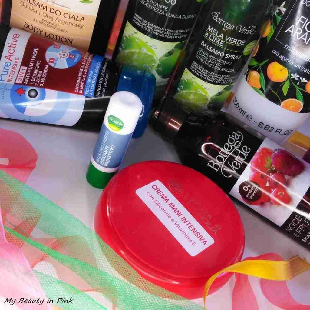 Prodotti terminati - Crema mani intensiva Fior di Magnolia, Balsamo labbra vivi verde coop, Pure Active 3in1 Garnier